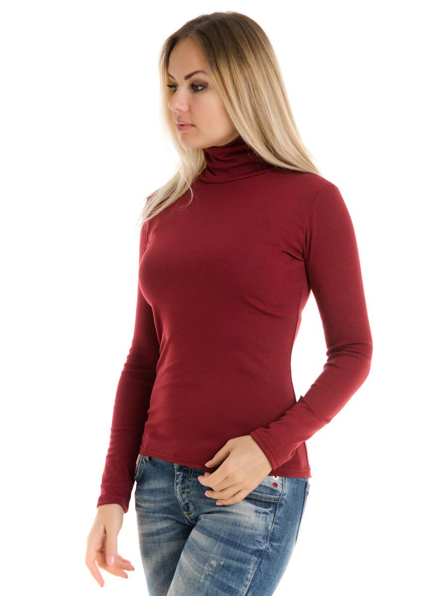 Женская водолазка (гольф) из полушерсти Irvik VH10-414 бордовый