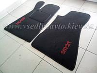 Ворсовые коврики в салон SMART 452 Roadster (черные)