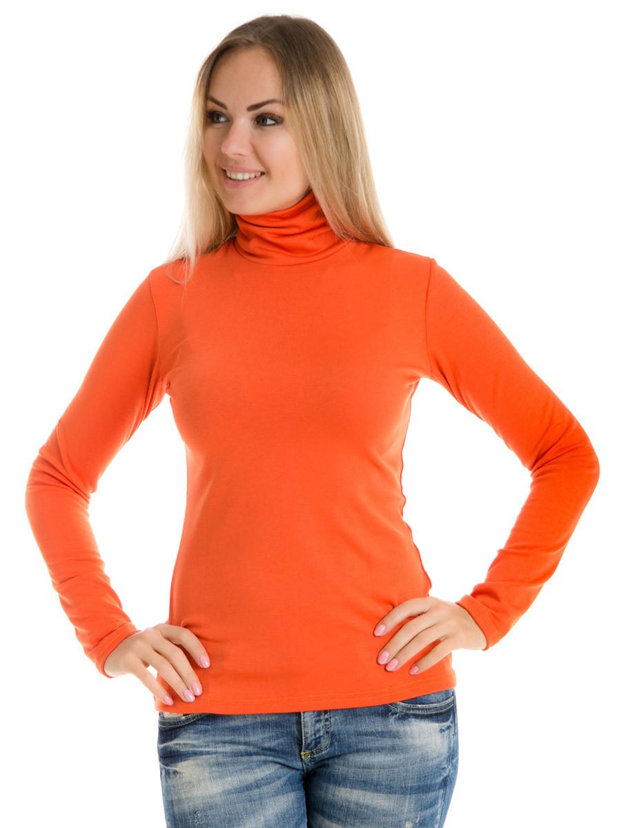Женская водолазка (гольф) из полушерсти Irvik VH10-421 оранжевый