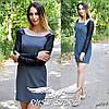 Платье с рукавами из эко-кожи