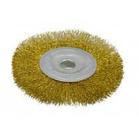 Щітка-крацовка дискова латунна 150х22,2мм SPITCE 18-054   дисковая латунная