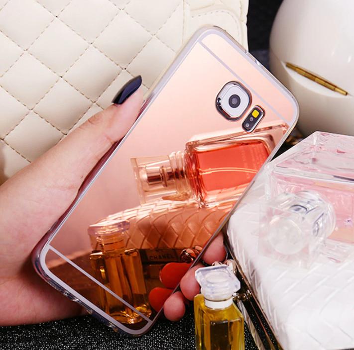 Зеркальный силиконовый чехол для Samsung Galaxy S7 Edge