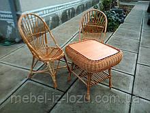 """2 кресла """"Яйца"""" + квадратный столик """"Гриб"""""""