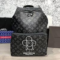 Рюкзак Louis Vuitton Backpack Apollo Monogram Eclipse портфель луи витон  реплика 94e05604bd3