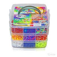 Набор резинок 5000 шт для плетения браслетов Rainbow Loom bands