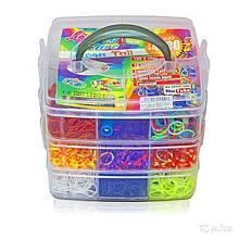 Набор резинок 4000 шт для плетения браслетов Rainbow Loom bands