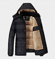 Мужская зимняя куртка VOGUE в наличии! (JP-ROUGH), Чёрный / РАЗМЕР52-54