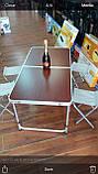 Стол + 4 стула,  раскладной для пикника, 120х60см, фото 2