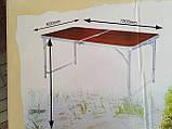 Стол + 4 стула,  раскладной для пикника, 120х60см, фото 3