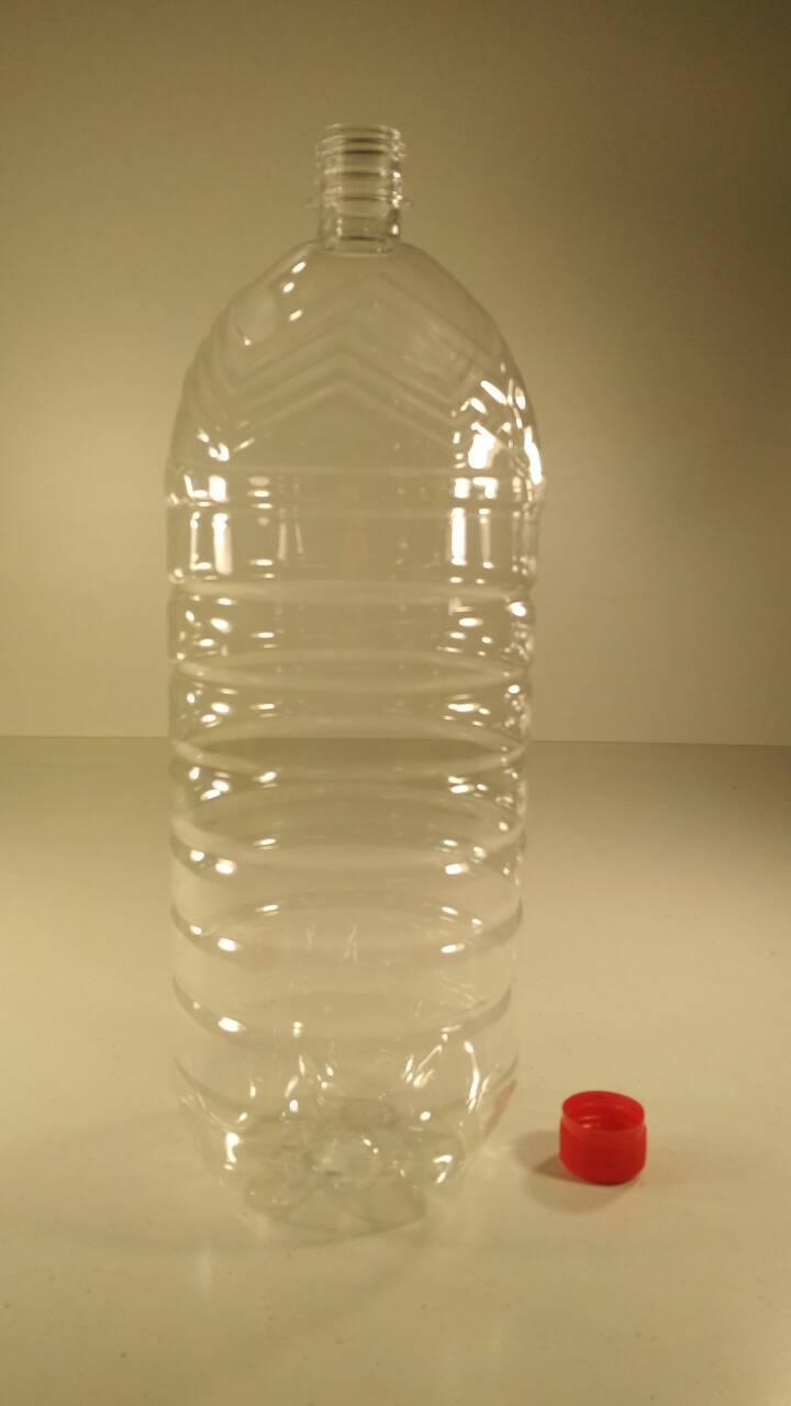Емкость для воды ПЭТ 3,0 литра прозрачная с крышкой  (50 шт)