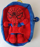 Детский Рюкзак Спайдер Мен со съемной игрушкой (Spider Man), 20см