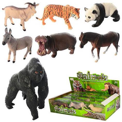 """Набор животных D160-12P-PA """"ANIMALS"""", от 8,5 см, 12 шт. в упаковке (Y), фото 2"""