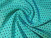Ткань шифон креповый горох, бирюзовый