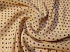 Ткань шифон креповый горох, бежевый