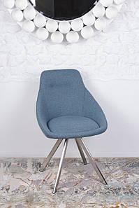 Стул поворотный TOLEDO (Толедо) синий от Niсolas,ткань