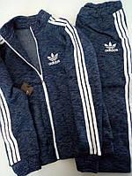 Спортивный костюм из трехнити джинсовый меланж 146,152,160