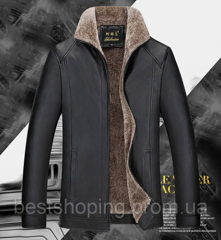 Куртка Зимняя Кожаная на Овчине 1b2a47718bf9d
