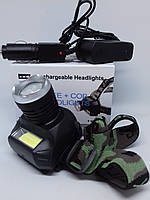 Налобный фонарь Bailong BL-6919B XPE аккумуляторный, фото 1