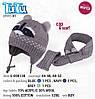 Шапка и шарф для мальчика TuTu 41 арт. 5-000138(44-48,48-52)