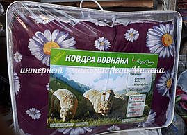 Зимнее одеяло овчина евро размер от украинского производителя, фото 3
