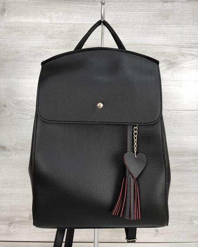Молодежный сумка-рюкзак черный