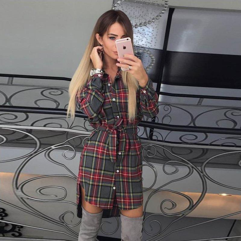 Женское платье-рубашка AL7652