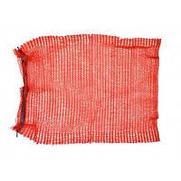 Сітка-мішок для пакування цибулі з зав'язкою, червона, 45х75см, до 30 кг 69-226 | упаковки лука красная