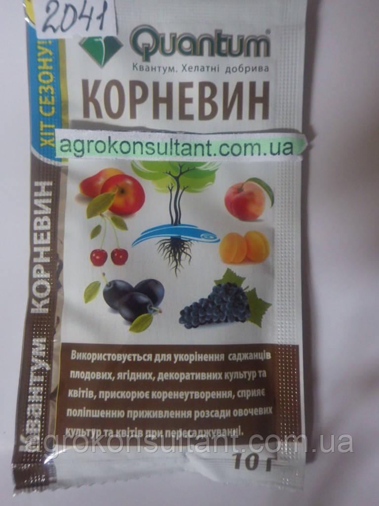 Корневин 10 г. — эффективный укоренитель для применения на саженцах, цветах, овощных культур