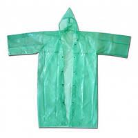 Плащ-дощовик рибацький, металеві кнопки розм. 60-62, зелений 70-162   рыбацкий зеленый дождевик