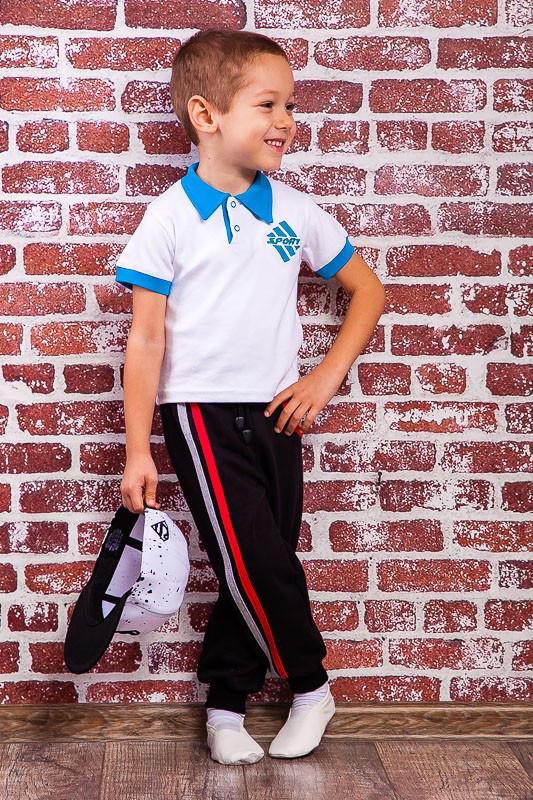 Брюки спортивные трикотаж с начесом для мальчика