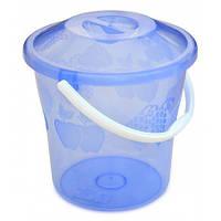 Відро пластикове з кришкою прозоре, харчове, 10 л 66-267 | ведро пластиковое крышкой прозрачное пищевое