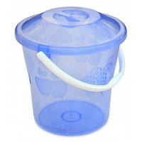 Відро пластикове з кришкою прозоре, харчове, 12 л 66-268 | ведро пластиковое крышкой прозрачное пищевое