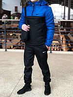 Анорак Nike Intruder утепленный на синтепоне, мужской черно-синий осенний/весенний, фото 1