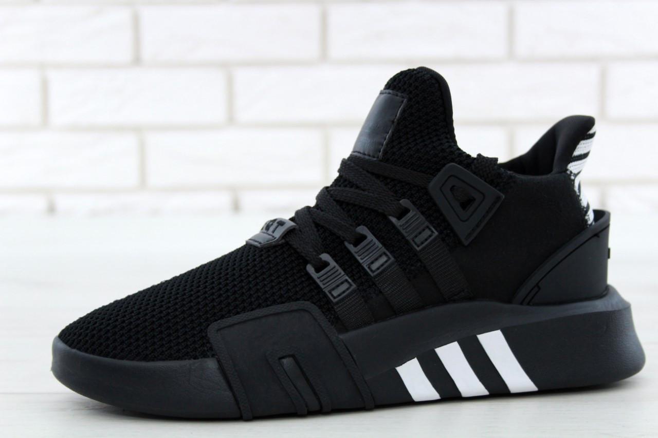 Кроссовки  Adidas EQT Bask ADV черно-белые топ реплика