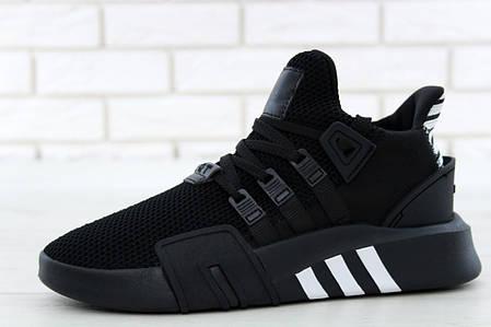 Кроссовки  Adidas EQT Bask ADV черно-белые топ реплика, фото 2