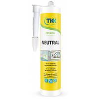 Герметик силіконовий нейтральний Tekasil Neutral прозорий 280мл 5207 TKK 12-352 | силиконовый нейтральный прозрачный , силикон, силікон