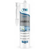Герметик силіконовий універсальний Tekasil Universal прозорий 280мл 5709 TKK 12-331 | силиконовый универсальный прозрачный , силикон, силікон