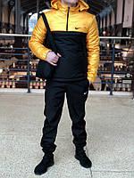 Анорак Nike Intruder утепленный на синтепоне, мужской черно-желтый осенний/весенний, фото 1