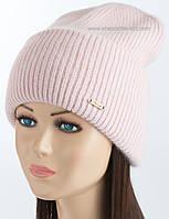 Модная шапочка с отворотом Вернон цвета сакура