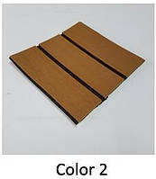 EVA искусственный тик светло-коричневый Color 2