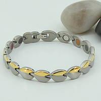 Жозе - титановый браслет с турмалином, родием, магнитами, №85