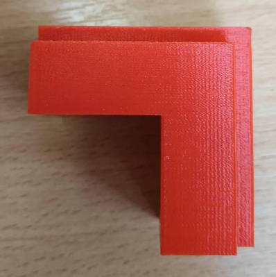 Уголок соединительный из полиуретана для профиля коробки скрытых дверей