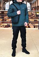 Анорак Nike Intruder утепленный на синтепоне, мужской зеленый осенний/весенний, фото 1