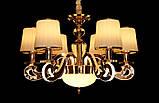 Современная люстра с подсветкой рожков 8331/6 GD, фото 2