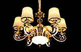 Современная люстра с подсветкой рожков 8331/6 GD, фото 5