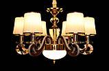Современная люстра с подсветкой рожков 8331/6 GD, фото 6