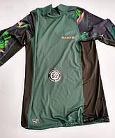 Лайкровая футболка для плавания с уф защитой Olaian; короткий рукав; тёмно-зелёная