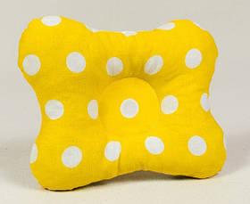 "Летний комплект в коляску ""Солнышко"" 65 х 75 см подушка 22 х 26 см желтый, фото 2"