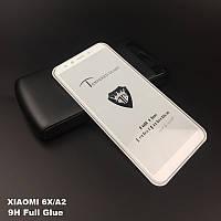 Защитное стекло Full Glue Xiaomi Mi A2 / Mi 6X (белое)
