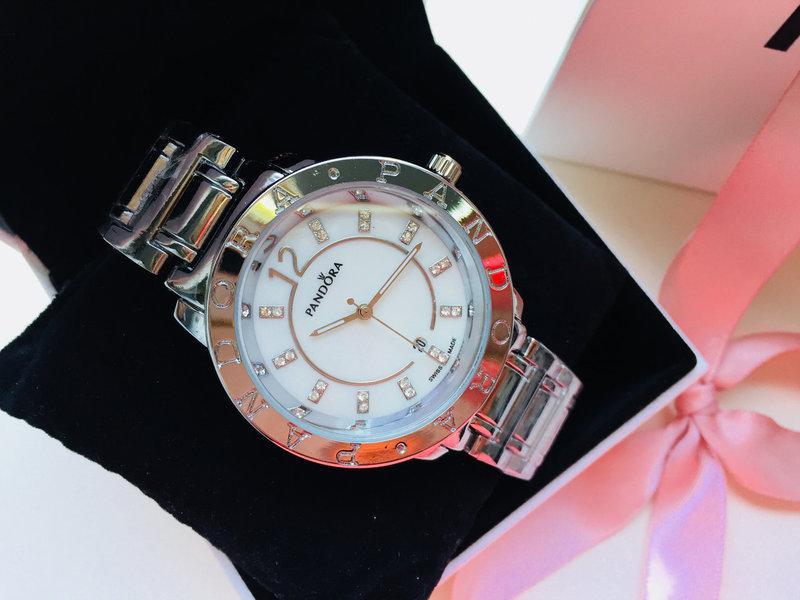 Женские наручные часы Pandora (Пандора),цвет серебро ( код: IBW163S )